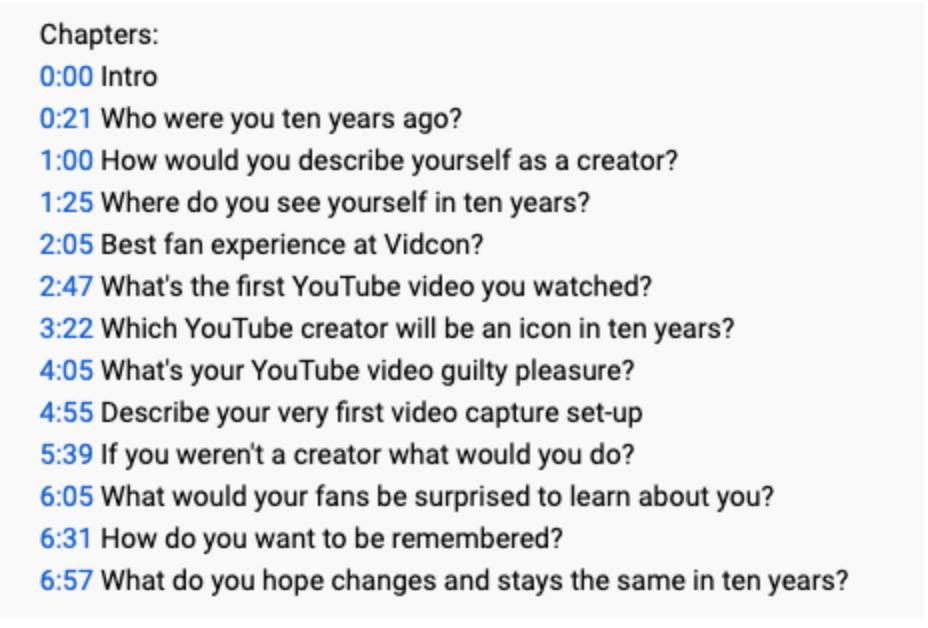 VIDEO CHAPTERSの使い方