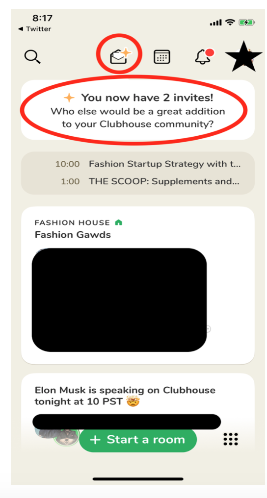 Clubhouseで知り合いを招待する方法