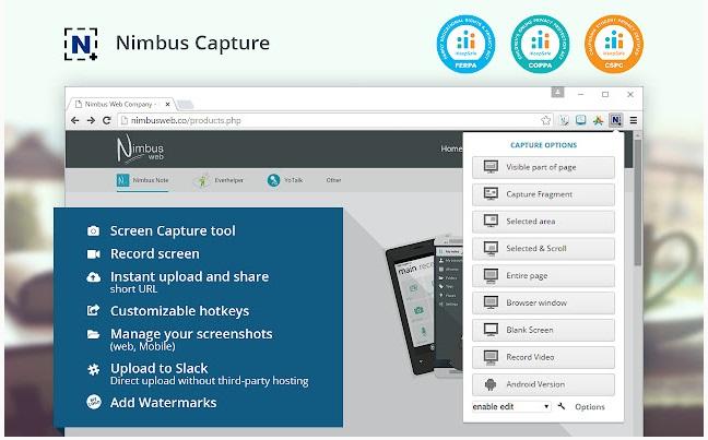 Nimbus-Screenshot-&- Screen-Video-Recorderを紹介している