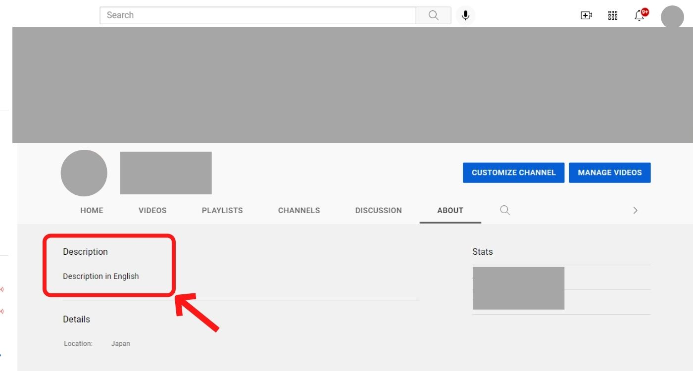 YouTube概要欄の編集